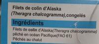 Filets de colin d'Alaska sans peau ni aretes BIEN VU - Ingrédients - fr