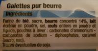 Galettes Pur Beurre - Ingrédients - fr