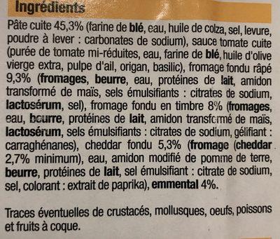 Pizza 3 fromages - Ingrédients - fr
