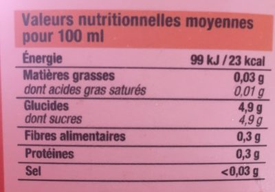 Nectar d'orange - Informations nutritionnelles - fr