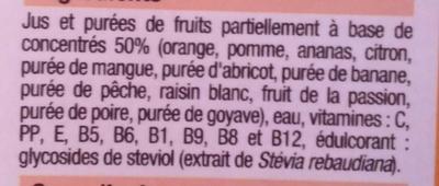 Nectar multifruits - Ingrédients - fr