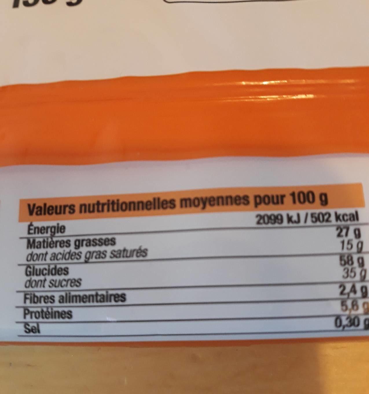 Gaufrettes fourrées au chocolat - Informations nutritionnelles - fr