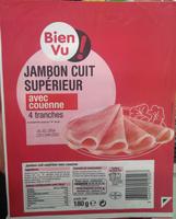 Jambon cuit supérieur avec couenne - Produit - fr