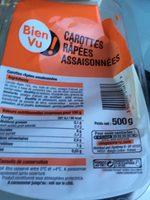 Carottes rapees assaisonnees - Produit - fr