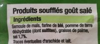 Souffles aperitif frites salee - Ingredients