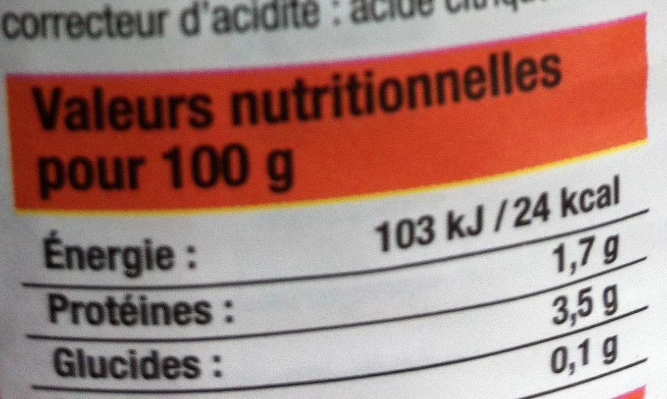 Tomates entières pelées au jus - Nutrition facts - fr