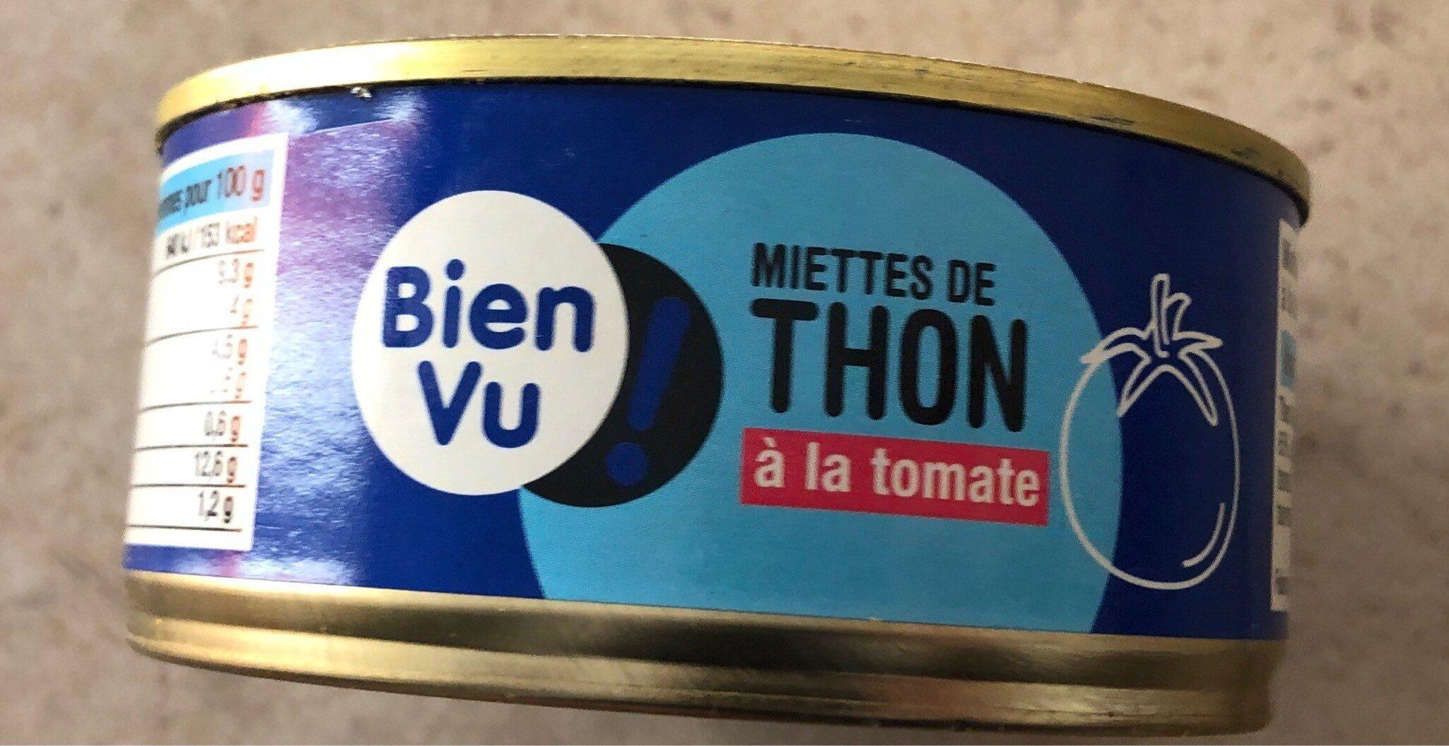 Miettes de thon a la tomate BIEN VU - Valori nutrizionali - fr