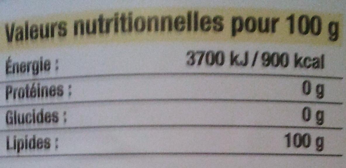Huile de Tournesol - Nutrition facts - fr