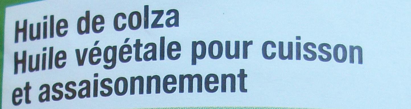 Huile de colza - Ingrédients - fr