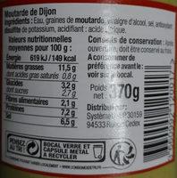 Moutarde Forte Bien Vu, - Ingrédients - fr