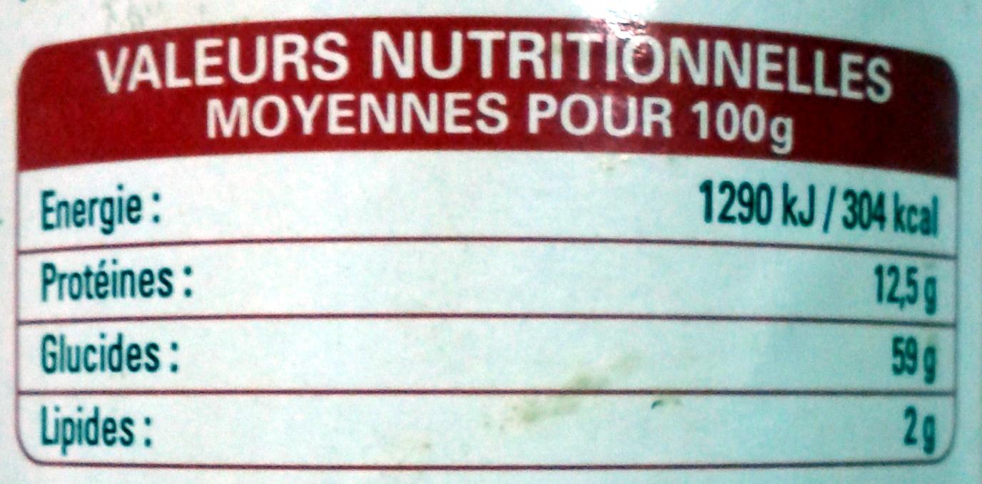 Poivre blanc moulu - Informations nutritionnelles - fr