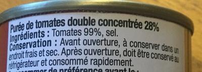 Double concentré de tomates - Ingrédients - fr