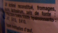 Fromage fondu (19,5% MG) - Ingredients - fr