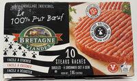 Le 100% Pur Bœuf - 10 steaks hachés surgelés - Produit