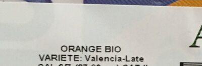 Oranges bio spécial jus à presser - Ingrediënten - fr