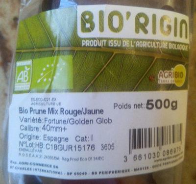 Bio prune Mix rouge/jaune - Ingrediënten - fr