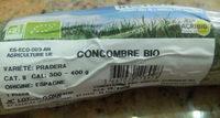 Concombre bio - Ingredients