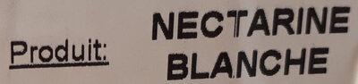 Nectarines blanches variété Tourmaline - Ingredients