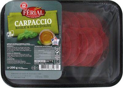 Carpaccio de boeuf et sa marinade huile d'olive / vinaigre balsamique 18 tranches - 5