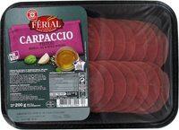 Carpaccio de boeuf et sa marinade de pistou 18 tranches - Produkt - fr