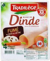 Blanc de dinde fumé x 4 tranches - Product - fr