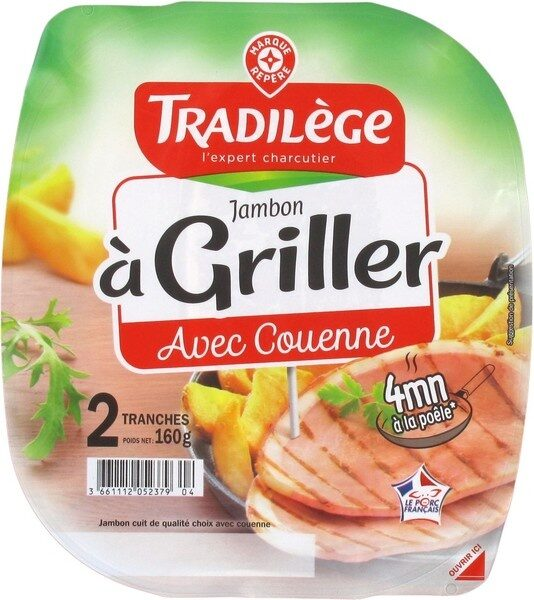 Jambon à griller 2 tranches - Product