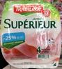 Jambon Supérieur (- 25 % de sel) Découenné Dégraissé (4 Tranches) - Product