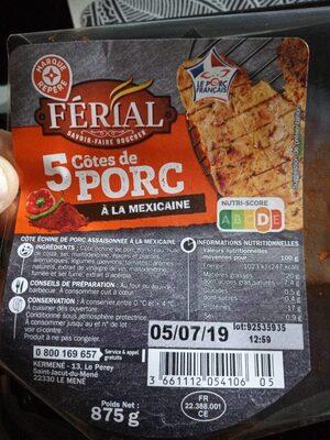 5 côtes de porc à la mexicaine - Product - fr