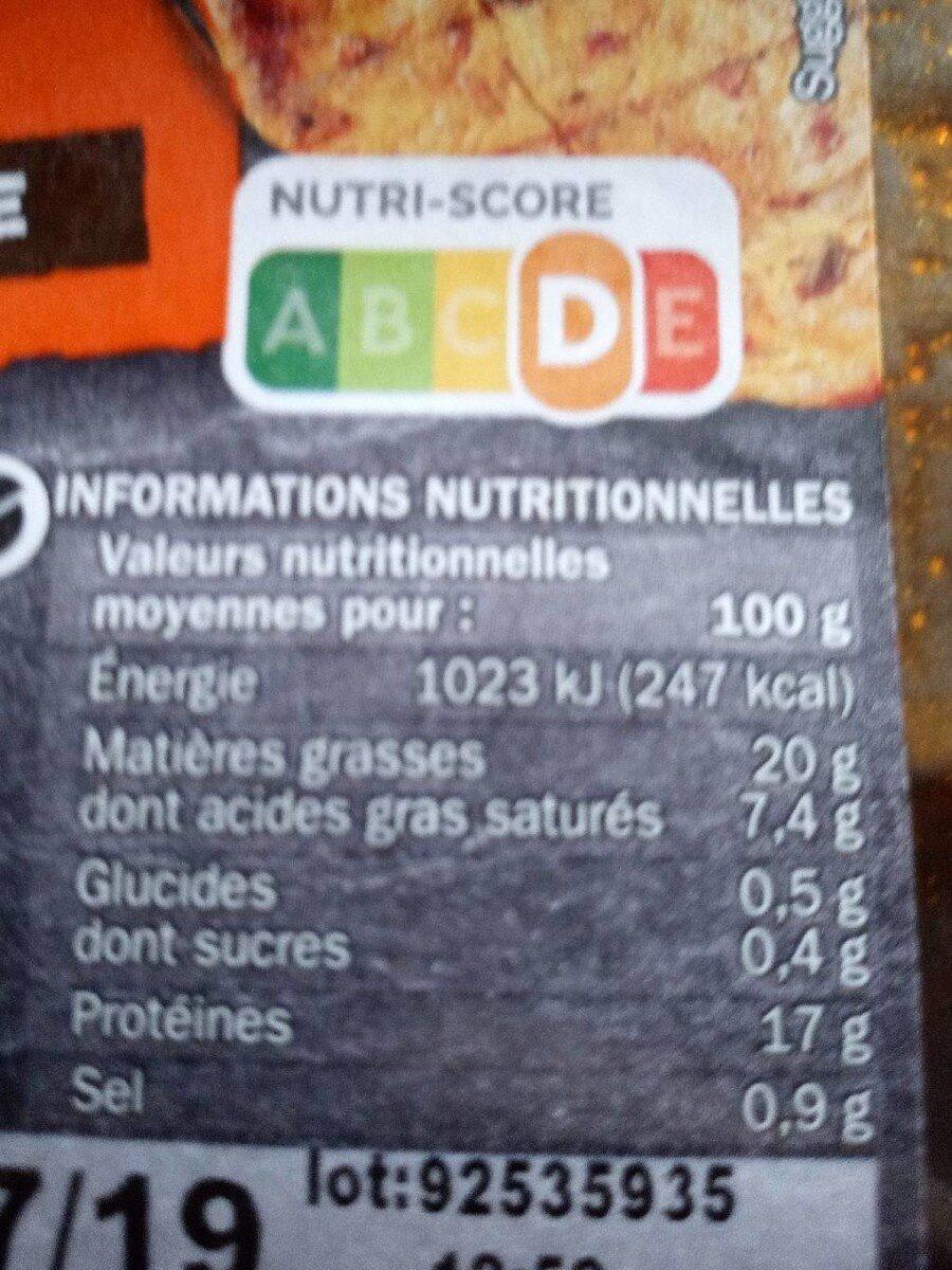 5 côtes de porc à la mexicaine - Nutrition facts - fr