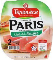 Jambon de Paris découenné dégraissé 2 tranches - Product