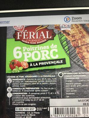 Poitrine porc a la provencale - Ingredients - fr