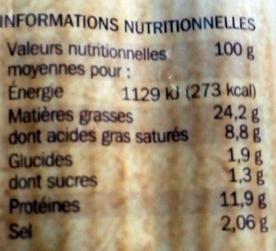 Saucisses de Strasbourg x 4 - Informations nutritionnelles - fr
