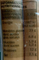 Saucisses de Strasbourg x 6 - Informations nutritionnelles - fr