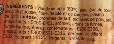 Saucisses de Strasbourg x 10 - Ingrédients - fr