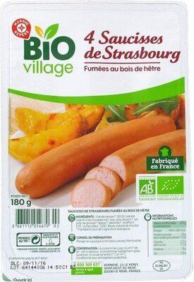 Saucisses de Strasbourg x 4 - Produit