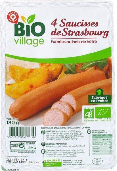 Saucisses de Strasbourg x 4 - Produit - fr
