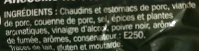 Andouille - Ingrédients - fr