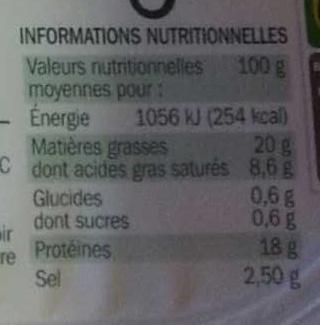 Allumettes de lardons fumés 2 x 100 g - Nutrition facts - fr