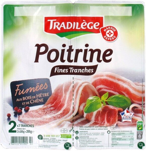 Poitrine fumée 2 x 7 fines tranches - Product - fr
