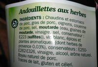 Andouillettes aux herbes x 5 - Ingrediënten