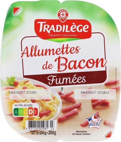 Allumettes de bacon fumé 2 x 100 g - Product - fr
