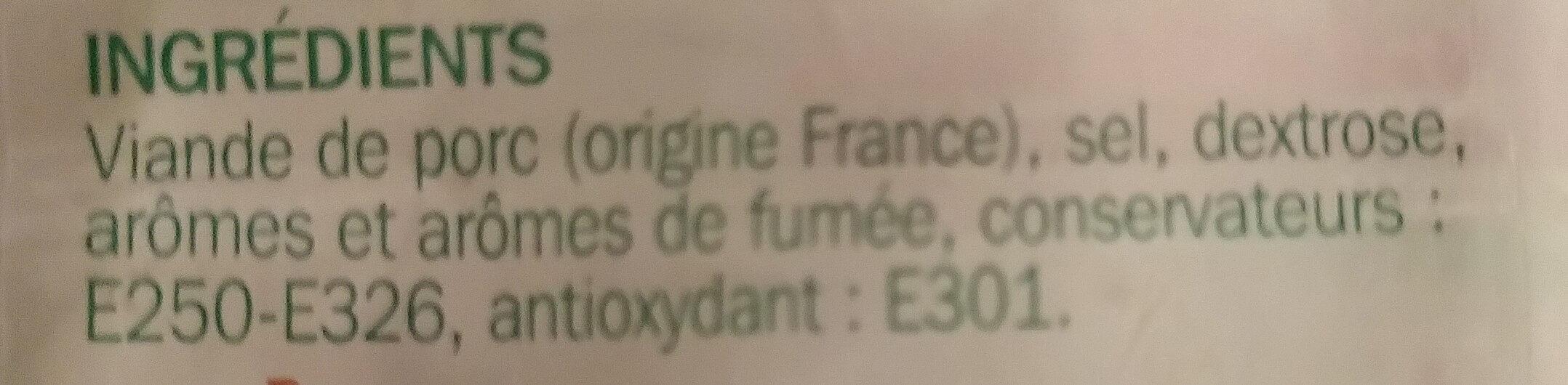 Allumettes de bacon Fumées - Ingrediënten - fr