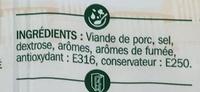 Allumettes de bacon fumé 2 x 100 g - Ingredients - fr