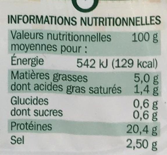 Allumettes de bacon fumé 2 x 100 g - Nutrition facts - fr