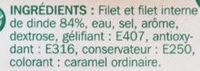 Blancs de dinde 2 tranches - Ingrédients - fr