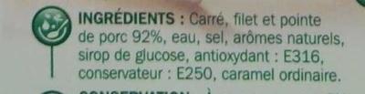 Rôti de porc x 6 - Ingrédients