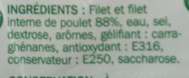 Blanc de poulet rôti à la broche x 4 tranches - Ingredientes