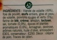 Terrine de volaille à la provençale - Ingrédients