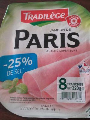 Jambon de Paris -25% de sel - Product