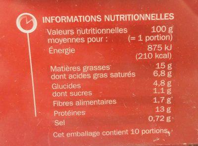Hachés à l'oignon x 10 - Ingredients